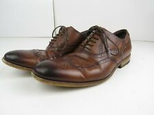 STACY ADAMS Mens Brown Leahter Dress Shoes Size 10M