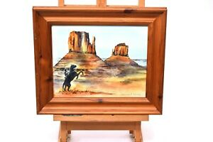 Original Watercolor Painting - Monument Valley - Famous Red Rock Buttes UTAH USA