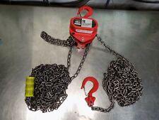 Coffing 20 Ft Hand Lift Chain Hoist 2000 Lb Capacity 08912w
