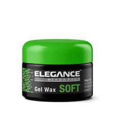 Elegance Barber Stylist Hair Gel Wax Soft w/ Argan Oil (Green Label) 3.3oz