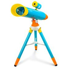 2-in-1 Kid Projector Telescope w/ Collapsible Tripod Great Space Exploration Set