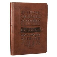 Bible Journal Notebook Leather Diary Notepad Prayer Scripture Daily Devotion Jos