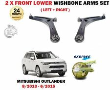 FOR MITSUBISHI OUTLANDER 2013-2015 2X FRONT LOWER WISHBONE SUSPENSION ARMS SET