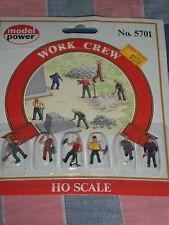 NIP Model Power No. 5701 Work Crew Set of Six  Handpainted  Package Crease