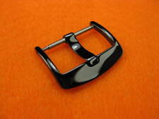 New 20mm Heavy Duty Swiss Stainless Watch Buckle Top Quality PVD Black Polish 20