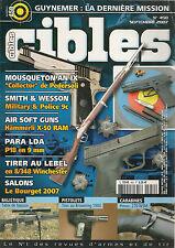 CIBLES N° 450--MOUSQUETON AN IX/SMITH & WESSON/PARA LDA/LEBEL/BROWNING 1900