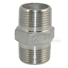 "Hex Nipple 3/4"" Male x 3/4"" Male 304 Stainless Steel threaded Pipe Fitting NPT"