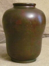 Very Good Antique Patinated Bronze Vase Signed
