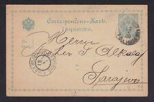 BOSNIA HERZEGOVINA 1900 MILITARY POSTAL STATIONERY CARD TUZLA? TO SARAJEVO