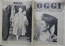 OGGI 5 Ottobre 1961 Elizabeth Taylor Kennedy Coppi De Filippo Bonsangue Minetti
