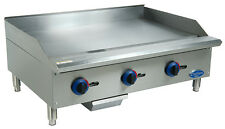 """Globe C36Gg 36"""" Chefmate Counter-top Gas Griddle - Natural Controls"""