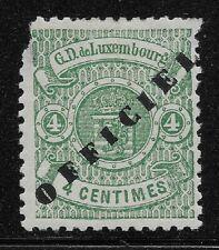 Luxembourg Scott #O35, Single 1878-80 FVF MH