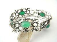 Hübsches altes Armband Silber 835 grüner Achat Trachtenarmband