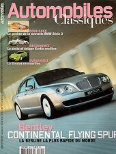 REVUE MAGAZINE AUTOMOBILES CLASSIQUES N°145 04/2005 BENTLEY STRATOS MASERATI 450