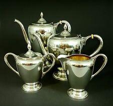Vierteiliges Kaffee- Teeservice, 1600 Gramm, 925 Sterling Silber