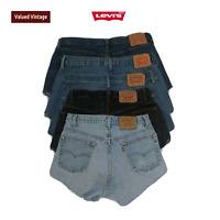 VINTAGE WOMENS LEVI'S JEANS HIGH WAISTED DENIM SHORTS HOTPANTS 501 505 550 6-20