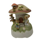 Vintage Enesco Country Calico Mouse School Days Trinket Musical Teacher Gift