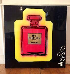 Chanel No5 Original Artwork Canvas Large Painting Shane Bowden aka Mofisto RARE!