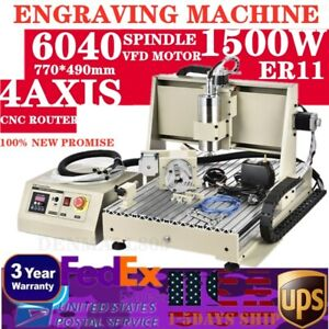 USB 4axis CNC 6040 Metal Engraver Router DIY Mill/Cut Machine f/ Metal Non-metal