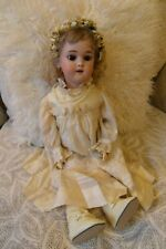 Simon Halbig Dolly Face Antique Bisque Doll, Wig & Vintage Outfit