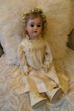Simon Halbig Dolly Face Antique Bisque Doll, Original Wig & Vintage Outfit