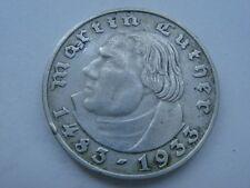 2 Reichsmark 1933 A, 3-tes Reich, 450 Geburtstag von Martin Luther