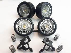 MAISTO Mercedes Benz CLK-GTR black 1:18 Spare Parts 4 Wheels With Tyres die cast