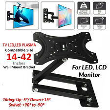 TV Wall Bracket Tilt & Swivel Wall Mount For 14 to 42 inches Plasma LCD LED 3D