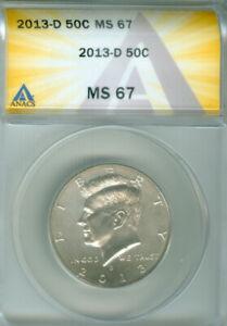 2013-D KENNEDY HALF DOLLAR ANACS MS 67 FREE S/H (2025887)