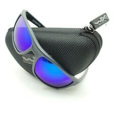 b2d48454053 Wiley X ACKNG09 Kingpin Matte Graphite Blue Mirror Polarized Authentic New