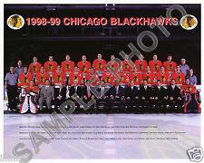 1998-99 CHICAGO BLACKHAWKS HOCKEY TEAM GLOSSY 8X10 PHOTO