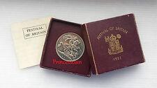 1951 * UNC * Jorge VI Festival de Gran Bretaña Corona Moneda-Caja/cert. de autenticidad
