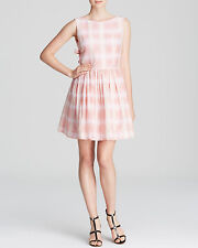 MARC BY MARC JACOBS $298 SILK BLEND BLURRED GINGHAM  DRESS  6