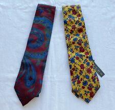 2 silk ETRO MILANO ties made in Italy