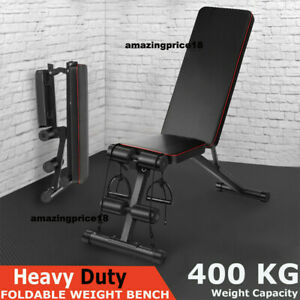 Adjustable Weight Bench Incline Decline Folding Fitness Workout home Gym Sit Up