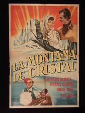 THE GLASS MOUNTAIN * VALENTINA CORTESA * ARGENTINE 1sh MOVIE POSTER 1949