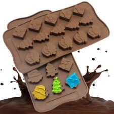 Christmas Silicone Fondant Mold Chocolate Candy Cake Baking Sugarcraft Mould DIY