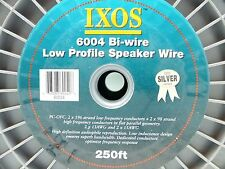 IXOS 6004 Bi-wire Low Profile Speaker Cable sold by the foot DIY Speaker Cables