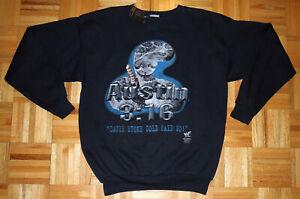 Stone Cold Steve Austin Sweatshirt 3:16 WWF Wrestling Vintage 90s Adult XL New