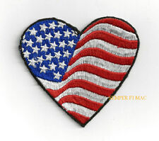 I LOVE THE USA HEART FLAG HAT VEST PATCH US STARS N STRIPES PIN UP US QUILT GIFT