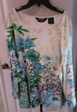 Take Two Clothing Co Womens white T- Shirt 3/4 Sleeves100% Cotton Sz3xl preowned