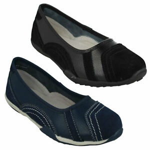 F8R0509 LADIES DOWN TO EARTH CASUAL SLIP ON WOMENS BALLERINA FLAT SHOES SIZE