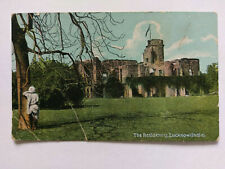 Lucknow India Vintage colour Postcard c1920s The Residency