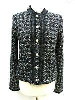 Zara Tweed Knit Jacket Blazer Cardigan Size L
