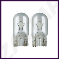 2 x 501 W5W 12V 5W CLEAR PUSH-IN CAPLESS Sidelights Bulb Bulbs T10 PAIR WEDGE