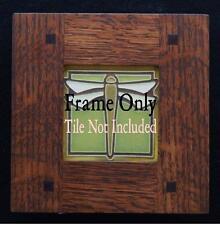 4x4 Arts & Crafts Morris Oak Tile Frame Motawi, Grueby, Batchelder, Pewabic