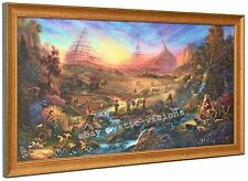 Tom duBois THE COMMISSION Canvas S/N Framed Noah's Ark Christian Spiritual Art