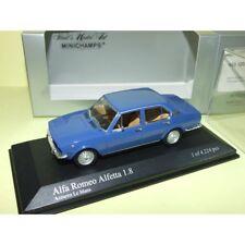 ALFA ROMEO ALFETTA 1.8 1972 Bleu Azzuro Le Mans MINICHAMPS 1:43 Boitage Gris