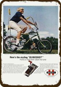 1969 HUFFY DELUXE SLINGSHOT BOY'S BIKE BICYCLE Vintage Look DECORATIVE METAL SIG