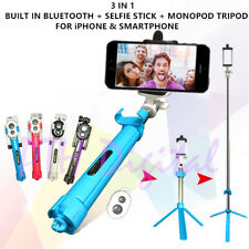 Bluetooth Selfie Stick Monopod For Shutter Camera Tripod Extendable